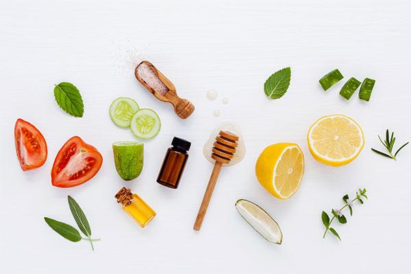 Термальная вода для приготовления маски - овощи и фрукты